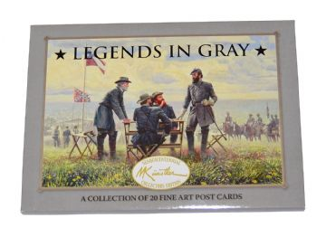 Mort Kunstler Legends In Gray Postcard Set